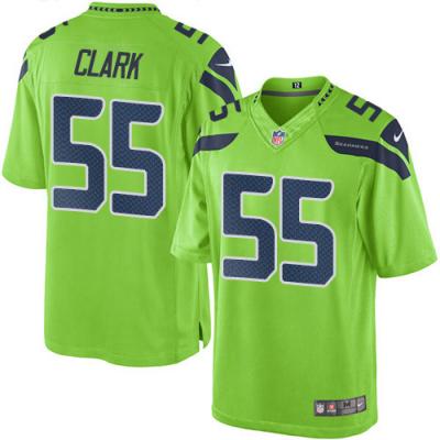 Nike Seahawks 55 Frank Clark Green Elite Men Jersey