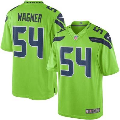 Nike Seattle Seahawks 54 Bobby Wagner Green Elite Men Jersey