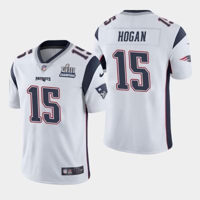 Nike Patriots 15 Chris Hogan White 2019 Super Bowl LIII Champions Vapor Untouchable Limited Men Jersey