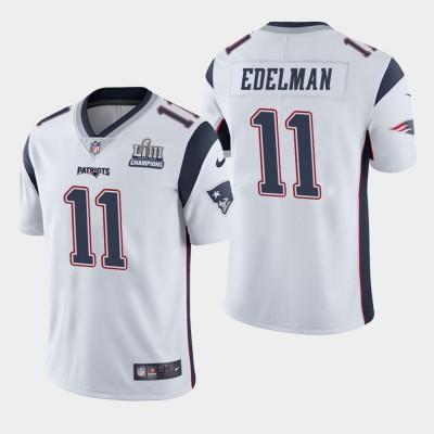 Nike Patriots 11 Julian Edelman White 2019 Super Bowl LIII Champions Vapor Untouchable Limited Men Jersey
