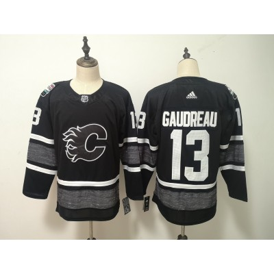 NHL Flames 13 Johnny Gaudreau Black 2019 All-Star Game Adidas Men Jersey