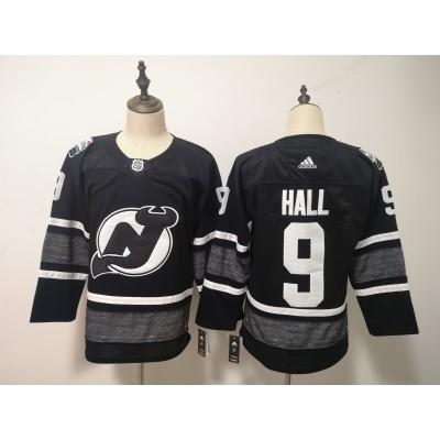 NHL Devils 9 Taylor Hall Black 2019 All-Star Game Adidas Men Jersey