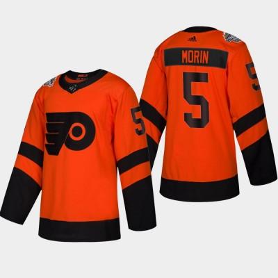NHL Flyers 5 Samuel Morin 2019 Stadium Series Orange Adidas Men Jersey