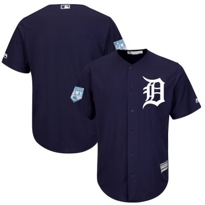 MLB Tigers Blank Navy 2019 Spring Training Cool Base Men Jersey