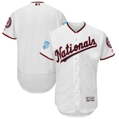 MLB Nationals Blank White 2019 Spring Training Flex Base Men Jersey