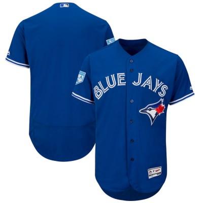 MLB Blue Jays Blank Royal 2019 Spring Training Flex Base Men Jersey