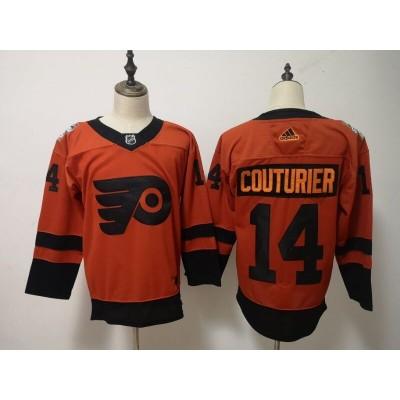 NHL Flyers 14 Sean Couturier 2019 Stadium Series Orange Adidas Men Jersey