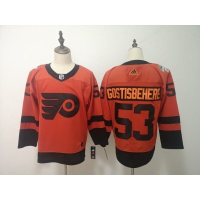 NHL Flyers 53 Shayne Gostisbehere 2019 Stadium Series Orange Adidas Men Jersey