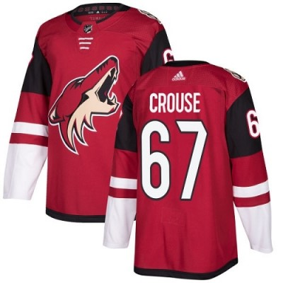 NHL Coyotes 67 Lawson Crouse Burgundy Red Home Men Jersey