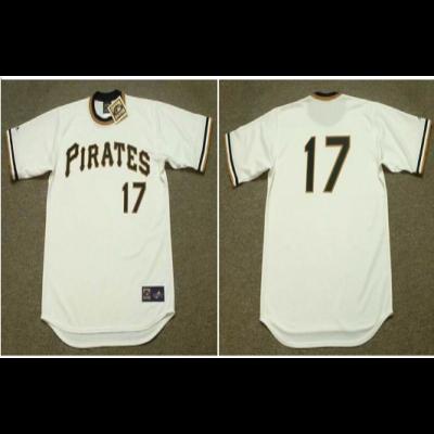 MLB Pirates 17 DOCK ELLIS  White 1971 Cooperstown Throwback Men Jersey