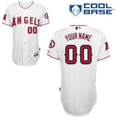 MLB Angels White Customized Men Cool Base Men Jersey