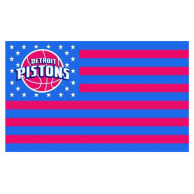 NBA Detroit Pistons Team Flag   1
