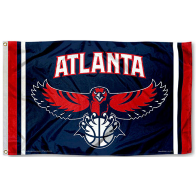 NBA Atlanta Hawks Team Flag   3