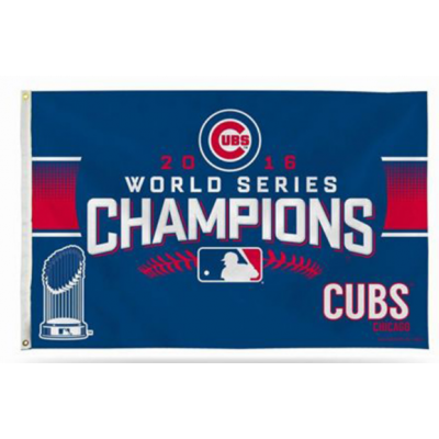 MLB Chicago Cubs 2016 World Series Champions Flag 1