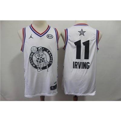 NBA Celtics 11 Kyrie Irving White 2019 All-Star Game Men Jersey