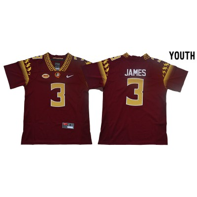 NCAA Florida State Seminoles 3 Derwin James Red College Football Youth Jersey