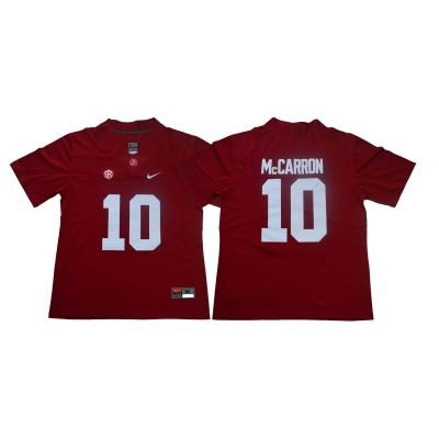 NCAA Alabama Crimson Tide 10 A.J. McCarron Red Nike College Football Men Jersey