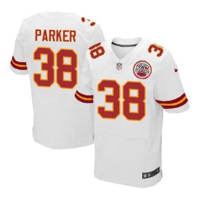 Nike Chiefs 38 Ron Parker White Elite Men Jersey