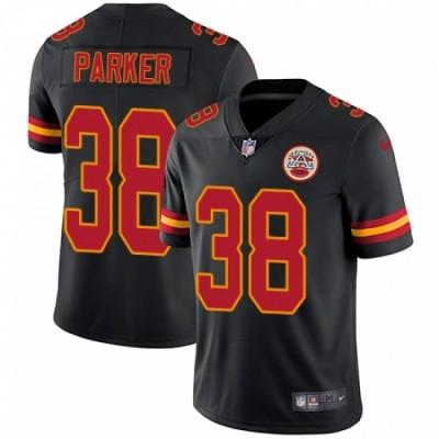 Nike Chiefs 38 Ron Parker Black Vapor Untouchable Limited Men Jersey