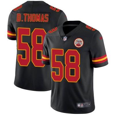 Nike Chiefs 58 Derrick Thomas Black Vapor Untouchable Limited Men Jersey