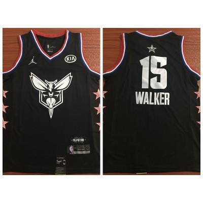 NBA Hornets 15 Kemba Walker Black 2019 All-Star Game Men Jersey