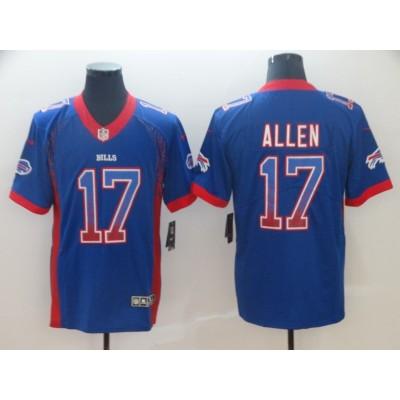 Nike Bills 17 Josh Allen Blue Drift Fashion Vapor Limited Men Jersey