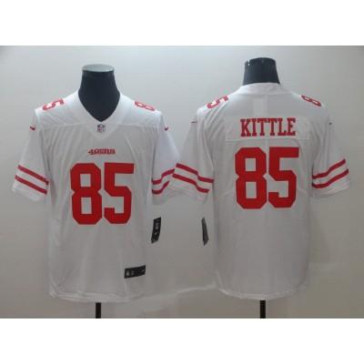 Nike 49ers 85 George Kittle White Vapor Untouchable Limited Men Jersey