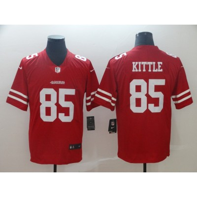 Nike 49ers 85 George Kittle Red Vapor Untouchable Limited Men Jersey
