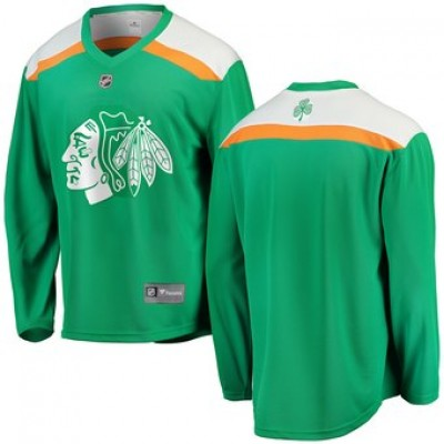 NHL Blackhawks Green 2019 St. Patrick's Day Adidas Men Jersey