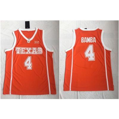 NCAA Texas Longhorns 4 Mohamed Bamba Orange Stitched College Basketball Men Jersey