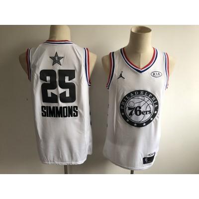 NBA 76ers 25 Ben Simmons White 2019 All-Star Game Men Jersey