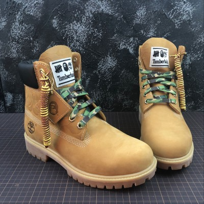 Timberland X Bape X Undefeated Brown Shoes