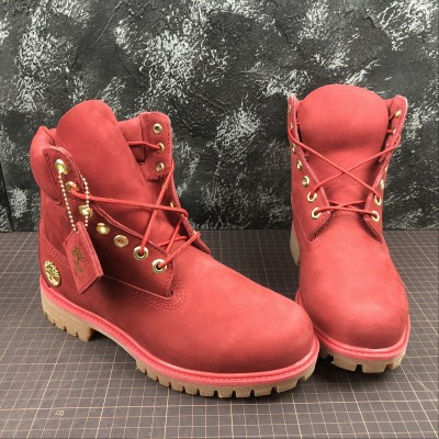 Timberland Fabric Leather Red Boot