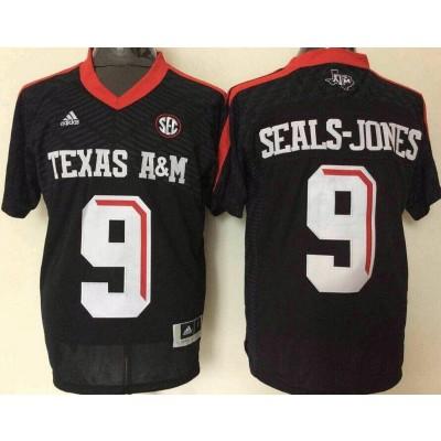 NCAA Texas A&M Aggies 9 Ricky Seals-Jones Black College Football Adidas Men Jersey
