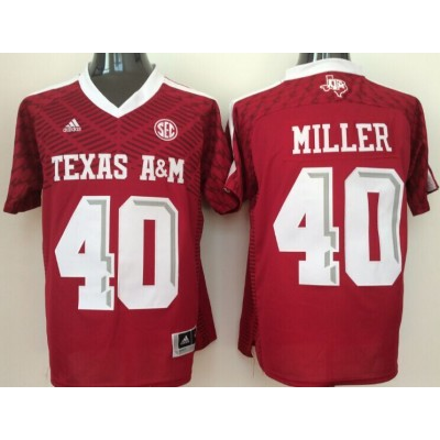 NCAA Texas A&M Aggies 40 Von Miller Red College Football Adidas Men Jersey