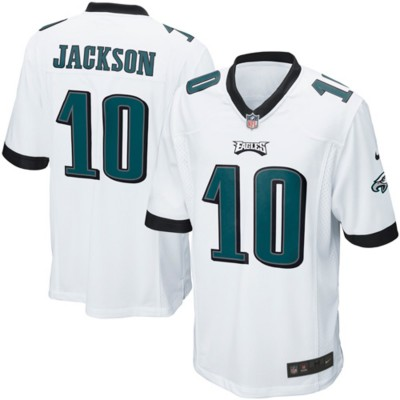 Nike Eagles 10 DeSean Jackson White Elite Men Jersey