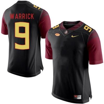 NCAA Florida State Seminoles 9 Peter Warrick Black College Football Men Jersey