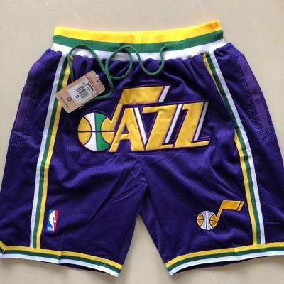 NBA Utah Jazz Purple Mesh Retro Shorts
