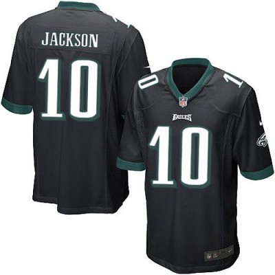 Nike Eagles 10 DeSean Jackson Black Elite Men Jersey