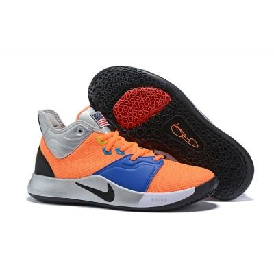 """Nike PG 3 """"NASA""""Orange /Black-Metallic Silver Shoes"""