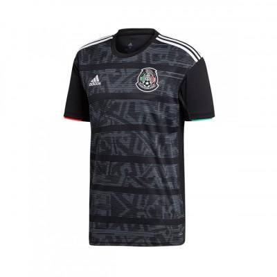 Mexico 2019 Gold Cup Black Adidas Soccer Men Jersey