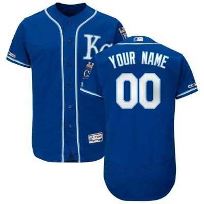 MLB Royals Blank Blue Flexbase Customized Men Jersey