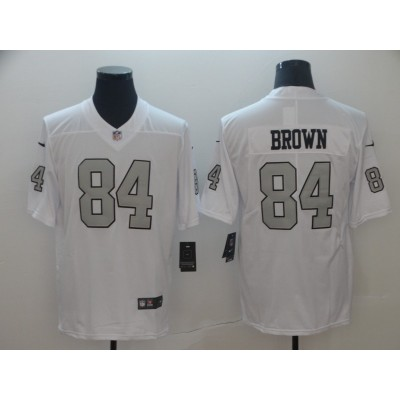 Nike Raiders 84 Antonio Brown White Color Rush Limited Men Jersey