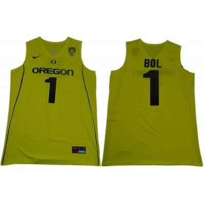 NCAA Oregon Ducks 1 Bol Bol Yellow College Basketball Men Jersey