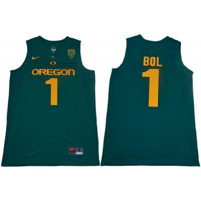 NCAA Oregon Ducks 1 Bol Bol Green College Basketball Men Jersey