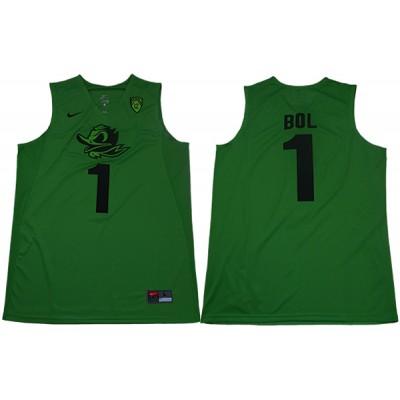 NCAA Oregon Ducks 1 Bol Bol Electric Green College Basketball Men Jersey