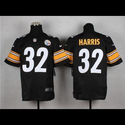 Nike Steelers 32 Franco Harris Black Team Color Men's Stitched NFL Elite Jersey