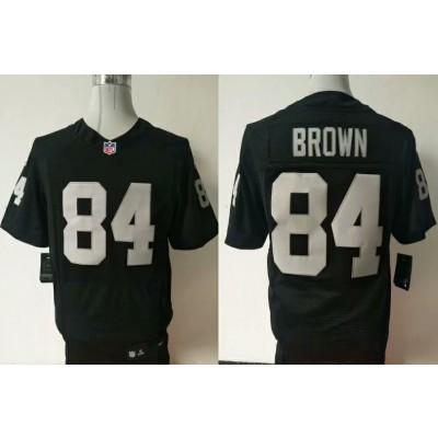 Nike Raiders 84 Antonio Brown Black Elite Men Jersey