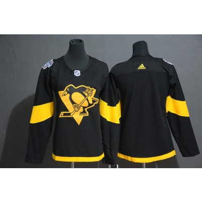 NHL Penguins Blank 2019 NHL Stadium Series Adidas Women Jersey