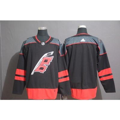 NHL Hurricanes Blank Black Adidas Men Jersey
